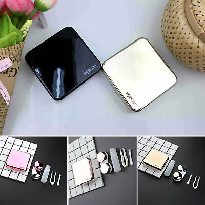 Mini Travel Contact Lens Case Box Container Holder Eye Care Kit Set With Mirror