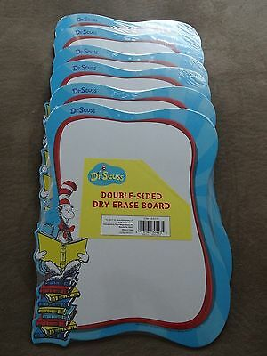 6 Dr. Seuss Cat In The Hat Double-Sided Dry Erase Boards-New In Package
