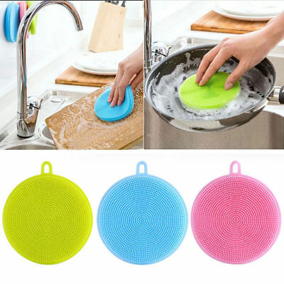2017 Silicone Dish Washing Sponge Scrubber Kitchen Cleaning antibacterial Tools