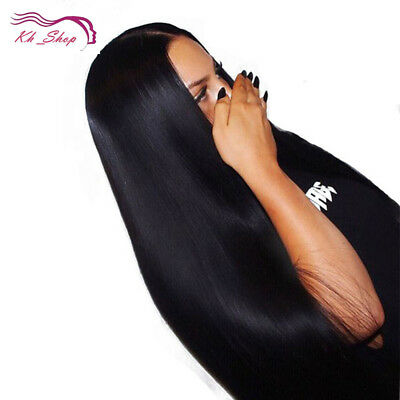 Full Glueless Front Lace Remy Women Wigs Natural Straight Black Front Baby Hair