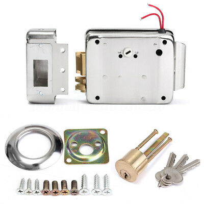 DC 12V Electric Electronic Door Lock Doorbell Access Control Security System AU