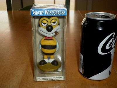 FUNKO -- BUMBLE BEE WITH CIGAR IN MOUTH ,WACKY WOBBLE Bobblehead Statue