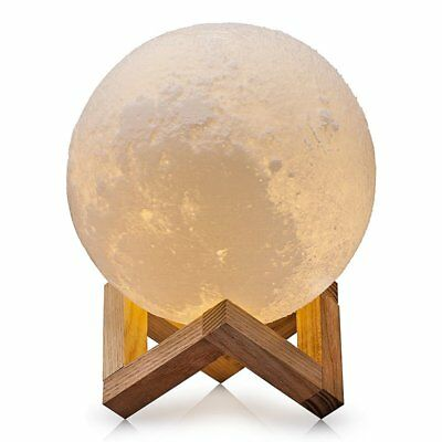 12/18/20CM 3D Rechargeable Moon Luna LED Night Lamp Desktop Touch Sensor Light Z