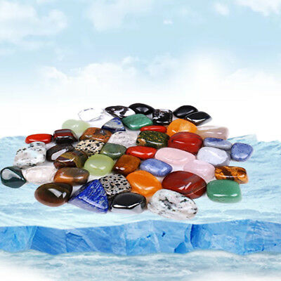 10pcs Mixed Natural Assorted Bulk Tumbled Gem Stone Crystals Colorful Rocks Deco