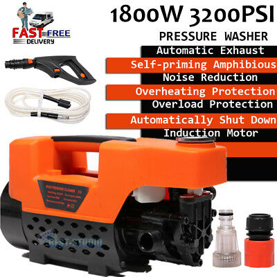 New 3200PSI High Pressure Water Cleaner Washer Electric Pump 1800W Hose Gurney