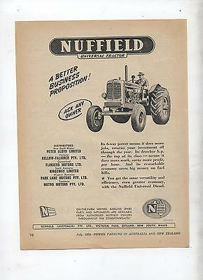 Nuffield Universal Tractor Advertisement removed from 1952 Farming Magazine
