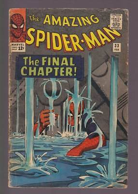 Amazing Spider-Man # 33  Classic The Final Chapter !  grade 3.0 scarce book !