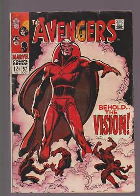 Avengers # 57  First appearance of the Vision !  grade 4.0 scarce book !