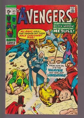 Avengers # 83  First app. of the Lady Liberators  !  grade 3.5 scarce book !
