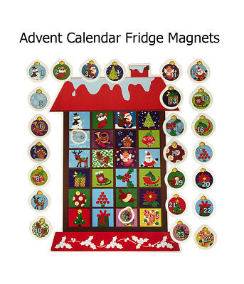 Advent Calendar Fridge Magnets Decoration Countdown to Christmas Magnetic House