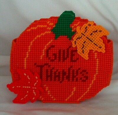 Handmade Thanksgiving Pumpkin Napkin Holder Table Decor Bright Colors Fall