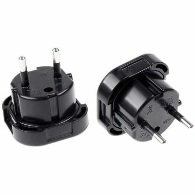 UK TO EU EURO EUROPE EUROPEAN TRAVEL ADAPTOR 3 TO 2 PIN PLUG Convertor 3 to 2