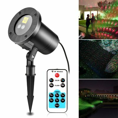 Waterproof Laser Light Spotlight Star Projector Xmas Garden Lamp Rotateale Pop