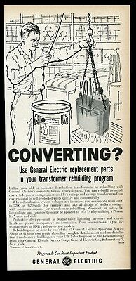 1960 General Electric transformer photo conversion program vintage print ad