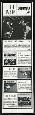1954 Dave Brubeck photo Columbia Records vintage print ad