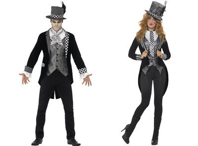 Mens & Ladies Halloween Dark Hatter Mad Hatter Fancy Dress Costume