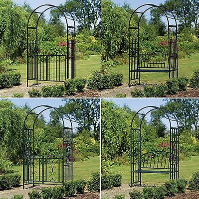 Garden Arches and Gates - Garden Abours - Archway with Seat & Gate