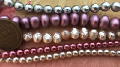 Vintage Glass Base Pearl Beads Mix 40