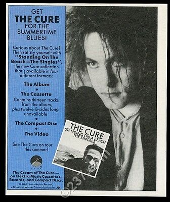1986 The Cure Robert Smith photo Standing On A Beach song release print ad