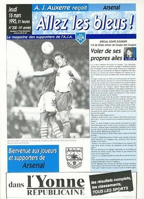AUXERRE v Arsenal (Cup Winners Cup) 1994/5