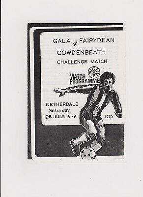 Gala Fairydean v Cowdenbeath 1979/80 Friendly