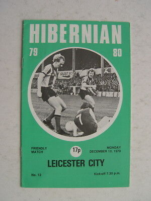 Hibernian v Leicester City 1979/80 Friendly
