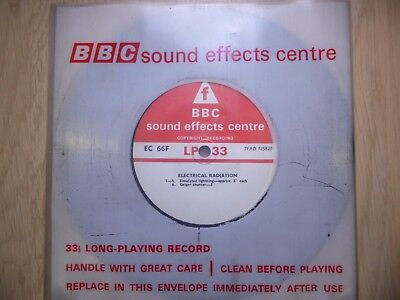 "BBC Sound Effects 7"" Record - Electrical Radiation, Geiger, Simulated Lightning"