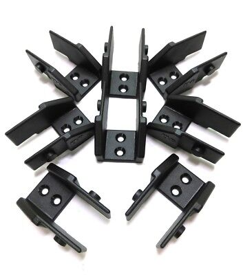 "Lot of 8 New Igus 080.16.2P Energy Chain Mounts, Male, 1.5""L x 1""W x 0.5""H"