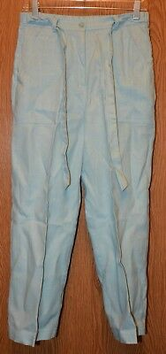 Womens Comfy Light Blue Real Comfort Flat Front Capri Pants Size 8 very good