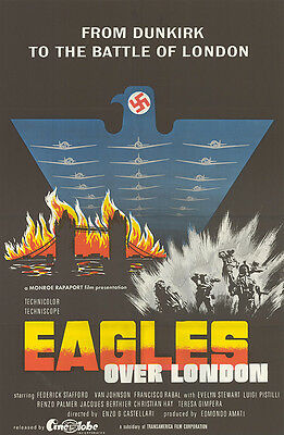 EAGLES OVER LONDON original WW2 one sheet movie poster RAF BATTLE OF BRITIAIN