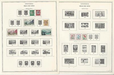 Andorra, French Collection 1931 to 1976 on 17 Minkus Specialty Pages