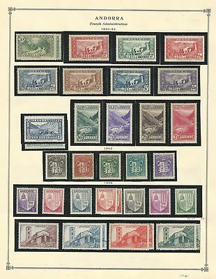 Andorra Collection 1940 to 1968 on 15 Scott International Pages