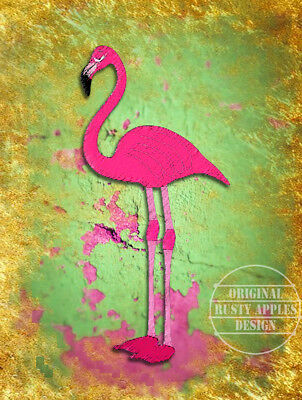 Pink Flamingo  Retro Rustic Vintage Style Metal Sign Home Decor Lovely Gift