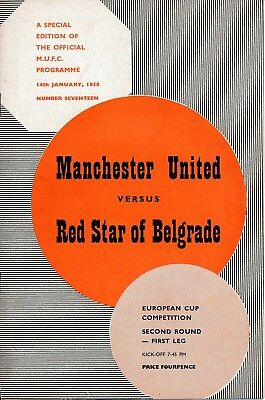 MAN UTD v Red Star Belgrade (European Cup) 1957/8 - TOKEN INTACT