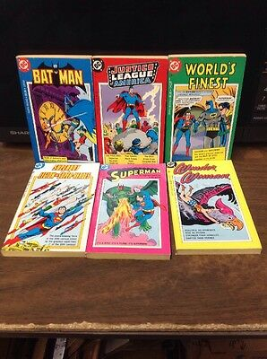 DC COMICS DIGEST SIZE PAPERBACK Tempo Books Lot Of 6 1970s