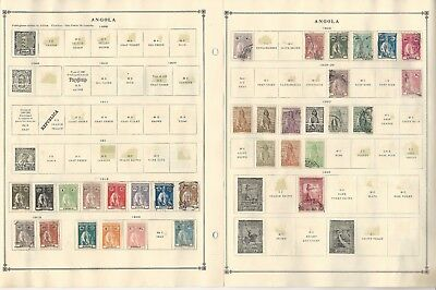 Angola, Portugal Colony, 1898-1970 on Scott International Pages, 20 Pages