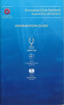 UEFA SUPER CUP 2012 Programme of arrangement/Info Guide