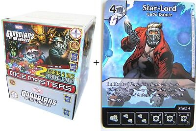 Marvel Dice Masters - Guardians of the Galaxy Gravity Feed Display + Promo Karte