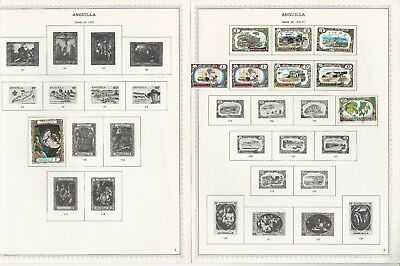 Anguilla 1967-1984 Minkus Specialty Pages, 87 Pages