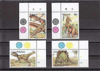 Timbre Stamp 4  Antigua Barbuda Y&t#1465-68 Dinosaure Neuf**/mnh-Mint 1992~A17
