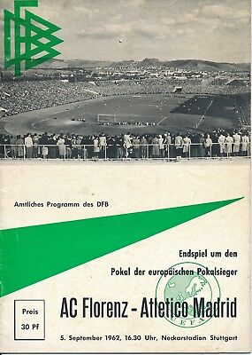 CUP WINNERS CUP FINAL 1962 REPLAY Atletico Madrid v Fiorentina