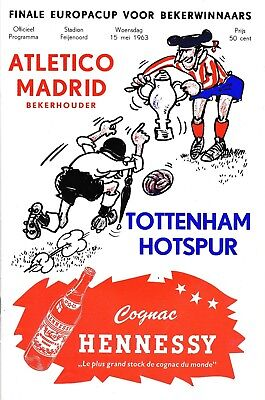 CUP WINNERS CUP FINAL 1963 Atletico Madrid v Tottenham