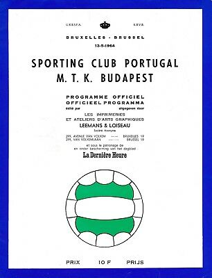 CUP WINNERS CUP FINAL 1964 Sporting v MTK Budapest