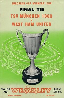 CUP WINNERS CUP FINAL 1965 West Ham v 1860 TSV Munich