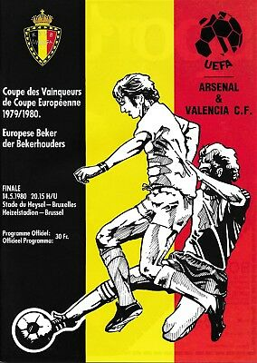 CUP WINNERS CUP FINAL 1980 Arsenal v Valencia