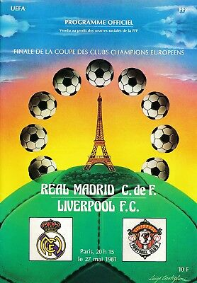 EUROPEAN CUP FINAL 1981 Liverpool v Real Madrid ORIGINAL!