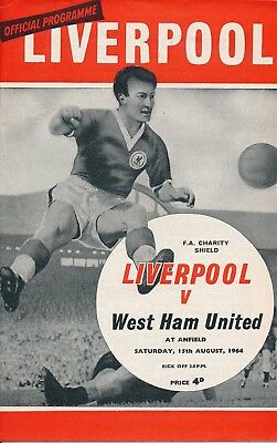 FA CHARITY SHIELD PROGRAMME 1964 Liverpool v West Ham