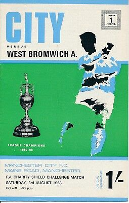 FA CHARITY SHIELD PROGRAMME 1968 Man City v West Brom