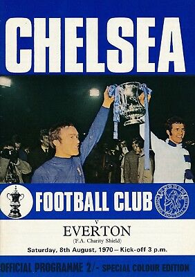 FA CHARITY SHIELD PROGRAMME 1970 Chelsea v Everton