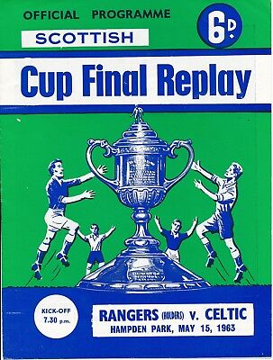 SCOTTISH CUP FINAL 1963 REPLAY: Celtic v Rangers